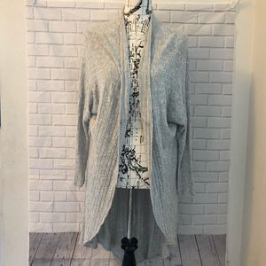 Anthropologie Ecote gray ribbed oversized cardigan